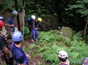 遭難救助訓練の様子